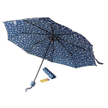 Guarda-Chuva Mini Feminino Azul Snoopy Semax - SP3908