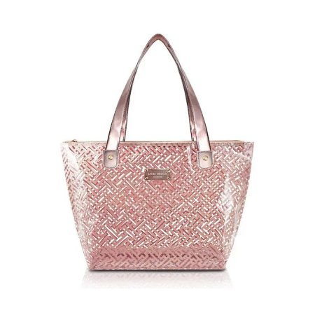 Bolsa Shopper Transparente Diamantes Rosa Jacki Design - ABC17573