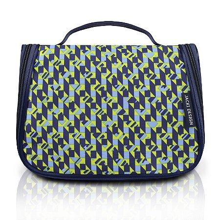 Necessaire de Viagem City Verde Zigzag Jacki Design - AHL17566
