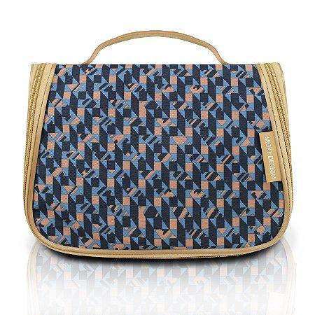 Necessaire de Viagem City Azul Zigzag Jacki Design - AHL17566