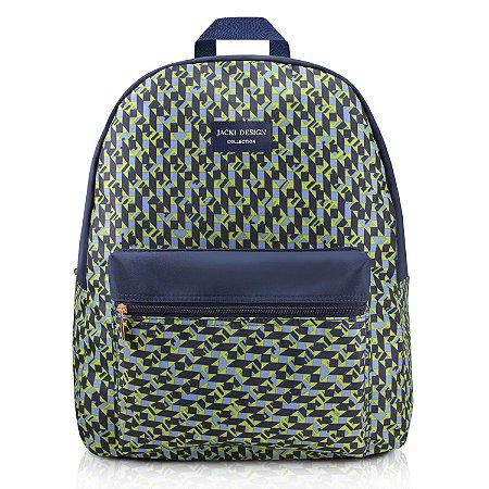 Mochila City Verde Zigzag Jacki Design - ABC17569