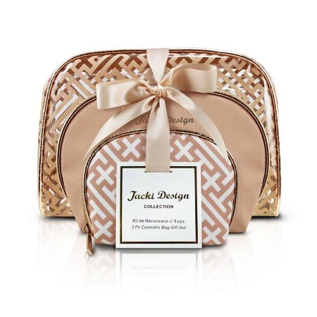 Kit de Necessaire com 3 Peças Diamantes Dourado Jacki Design - ABC17380