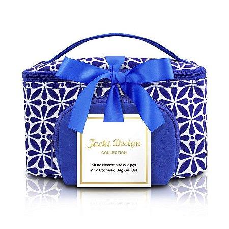 Kit de Necessaire com 2 Peças Étnica ABC16111 Jacki Design Cor:Azul