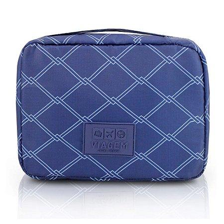 Necessaire de Viagem Estampada Azul Jacki Design - ARH19817