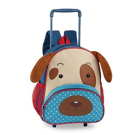 Mochila Escolar Infantil com Rodinha Pets Clio Cachorro CP2093B