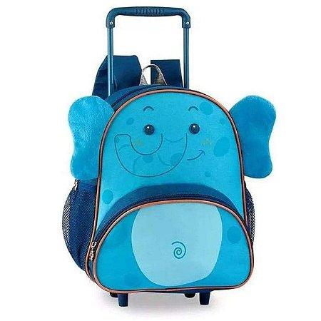 Mochila Escolar Infantil com Rodinha Pets Clio Elefante CP2093B