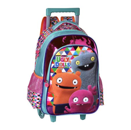 Mochila Escolar Infantil com Rodinha Ugly Dolls Verde Clio UG2300K