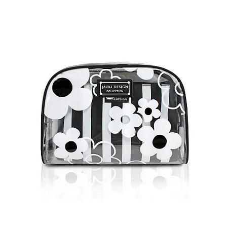 Kit Necessaire de 2 Peças Bem-Me-Quer Jacki Design Preto - AHL18580