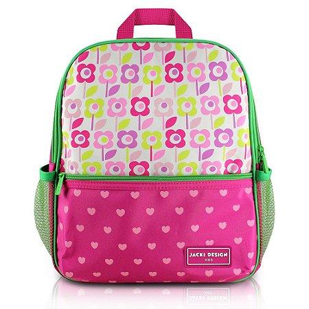 Mochila Escolar Sapeka Jacki Design Flor Pink - AHL17522