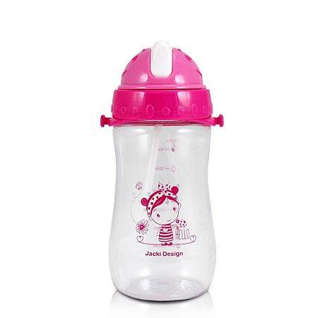 Garrafa Squeeze 480ml Pequeninos Jacki Design Joaninha Pink - ATB17335