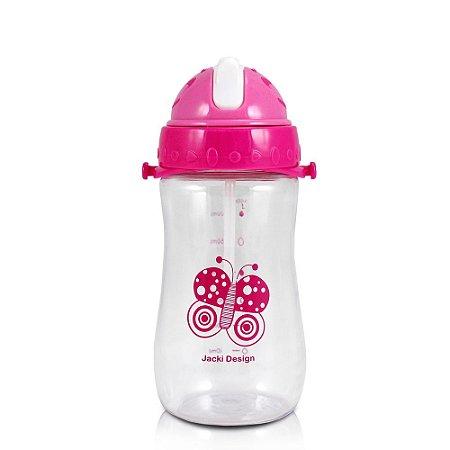 Garrafa Squeeze 480ml Pequeninos Jacki Design Borboleta Pink - ATB17335