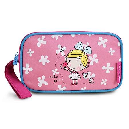 Estojo Necessaire Pequeninos Jacki Design Passarinho Pink - AHL17271