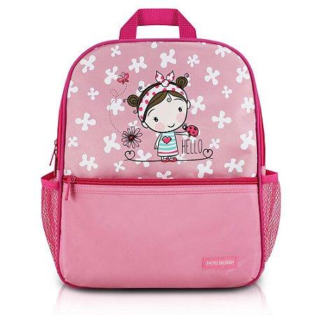 Mochila Escolar Pequeninos Jacki Design Joaninha Rosa - AHL17270
