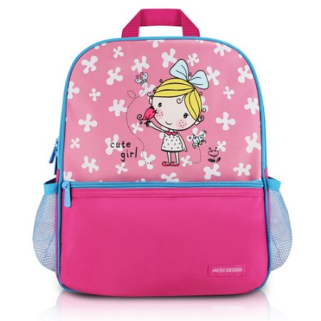 Mochila Escolar Pequeninos Jacki Design Passarinho Pink - AHL17270