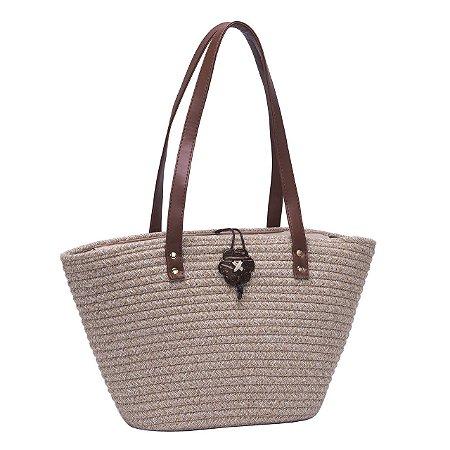 Bolsa de Praia Casual Tote Bag Pagani Bege PG6928