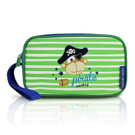 Estojo Necessaire Pequeninos Macaco Pirata Jacki Design - AHL17266