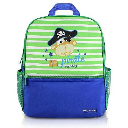 Mochila Escolar Pequeninos Macaco Pirata Jacki Design - AHL17265
