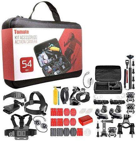 Kit Maleta Acessórios Action Câmera 54 em 1 Tomate - MT-1101