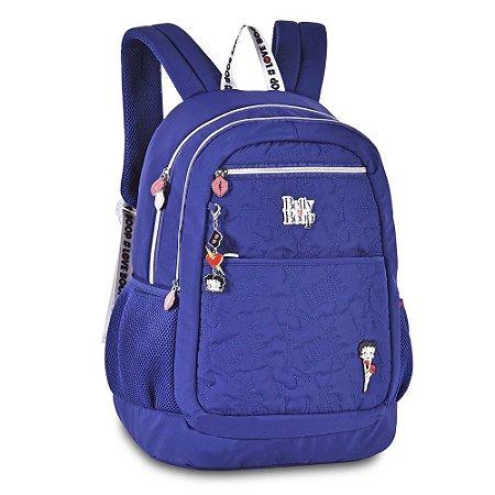 Mochila Escolar CLIO Betty Boop Feminina BP2309 Azul