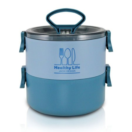 Pote Marmita de 2 Andares 1600ml Concept Azul Jacki Design - AGD20926