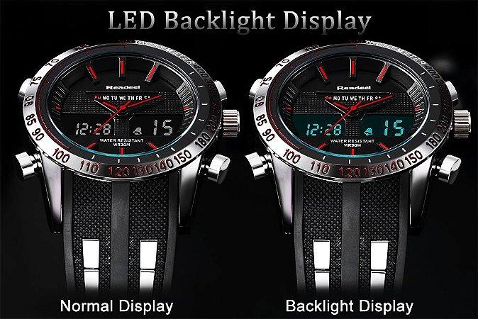 8704fb7117c Marca de luxo Relógios Homens Esportes Relógios À Prova D  Água LED Digital  Quartz Men