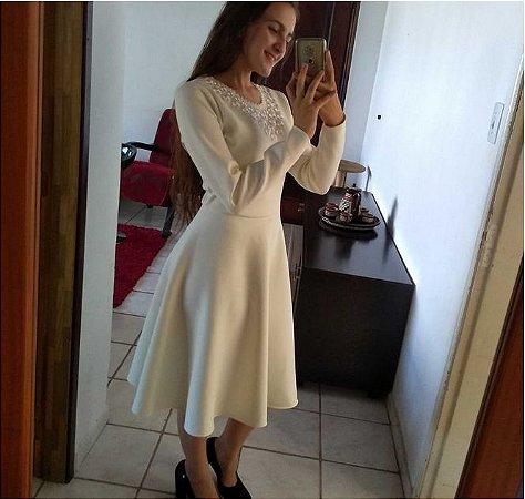 Vestido De Neoprene Gode Moda Evangelica
