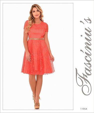 Vestido Fasciniu's Fascinius Moda Evangelica