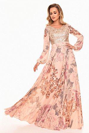 Vestido Fascinius Gode Bordado Moda Evangélica