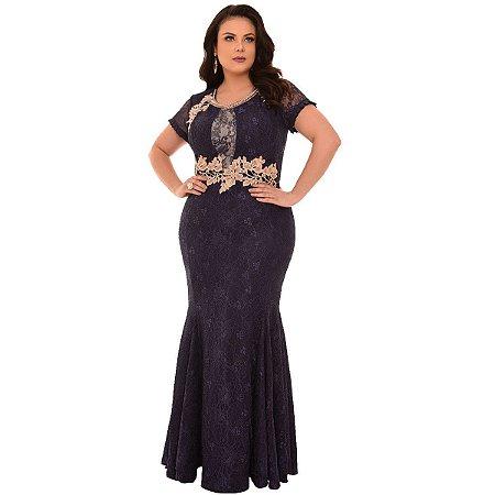 Vestido Longo Renda Fasciniu's Bordado Moda Evangelica 2019