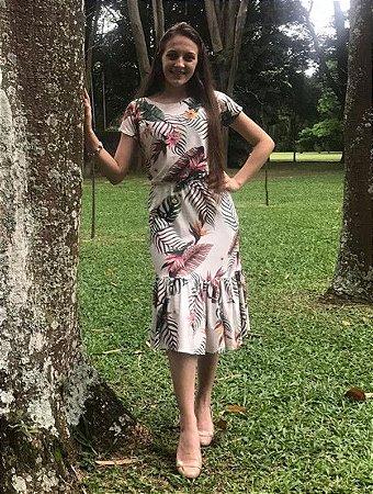 Vestido Evangelico Midi Estampado Roupas Femininas