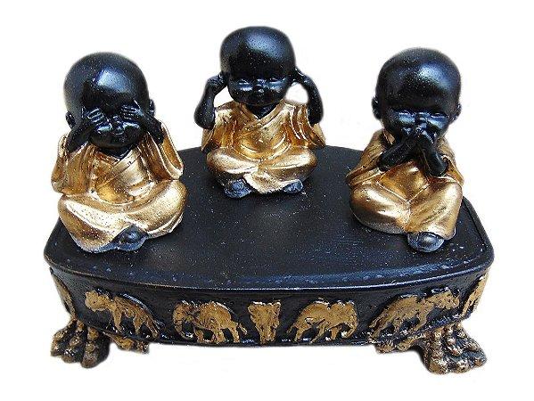 9052f8d883eb6 Trio Monge Cego Surdo Mudo Aparador Altar Buda Decoração - Mahalo ...