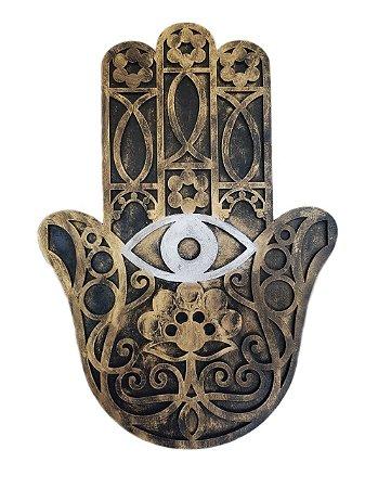 a3a709eb3d741 Hamsa Mão De Fátima Hamesh Proteção Talismã Parede Decoração ...