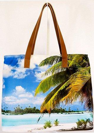 Bolsa Feminina Impermeável Praia Coqueiro