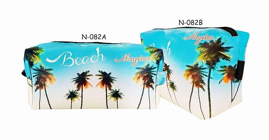 Necessaire Feminina Impermeável Praia Céu Azul