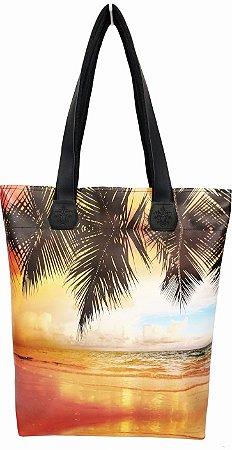 Bolsa Feminina Praia com Estampa Pôr do Sol, Magicc