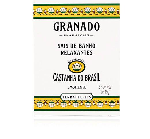 Sais de Banho Castanha do Brasil 5 x 15g - Granado