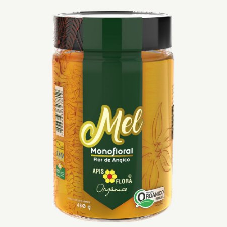 Mel Monofloral Flor de Angico Orgânico - 480 g - Apis Flora