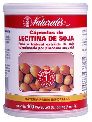 Lecitina de Soja 1000 mg com 100 cápsulas - Natu