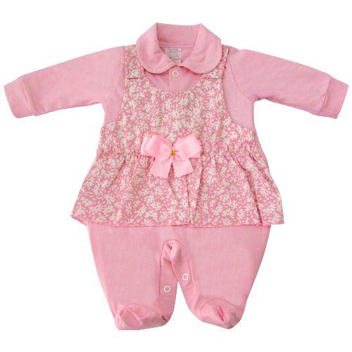 db0484775 Saída Maternidade Vestido Rosa com Pezinho - Pedro e o Bebe