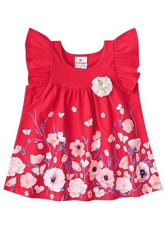Vestido Festa Das Flores Vermelho