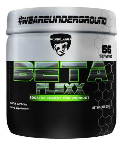 Beta Flex Alanina Under Labz 200g 66 Doses Pó Premium