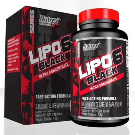 Lipo 6 Black Ultra Concentrate 120 Cápsulas - Nutrex