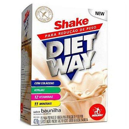 Shake p/ redução de peso Diet Way 420g - Midway