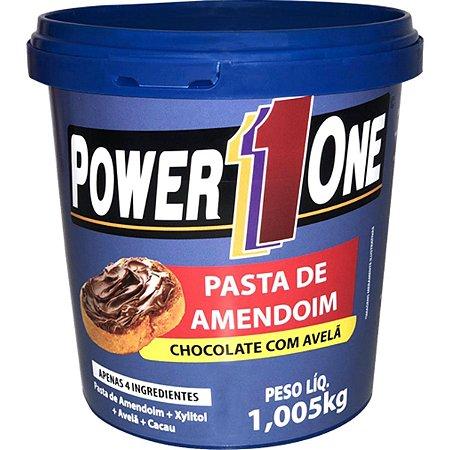 Pasta de Amendoim 1kg Chocolate c/ Avelã - Power one