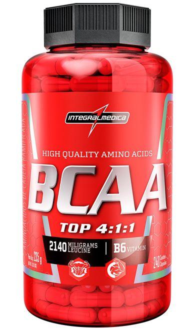 BCAA Top 4:1:1 c/ B6 240 Cápsulas - Integralmedica