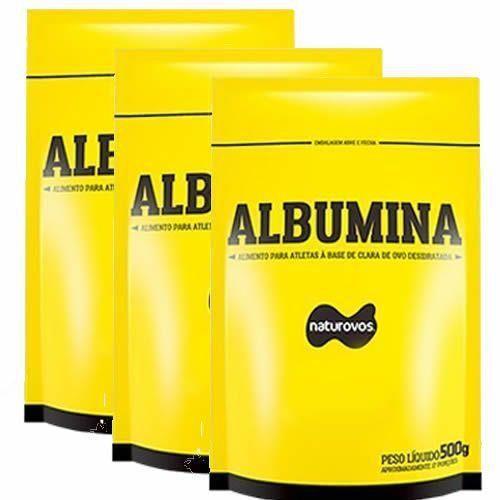 Kit c/ 03 Albuminas 500g cada (1,5kg total) - Naturovos