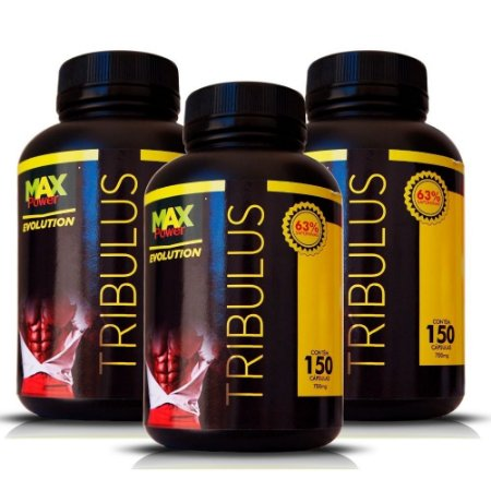 Kit 3x Tribulus 150 Cápsulas - Max Power