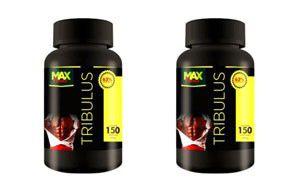 Kit 2x Tribulus 150 Cápsulas 1400mg 63% Saponinas - Max Power