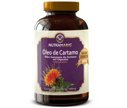 Óleo de Cártamo 1000mg 60 cápsulas - Nutra Magic