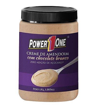 Creme de Amendoim com Chocolate Branco (1Kg) - Power one